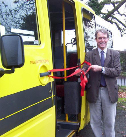 Our local MP, Owen Paterson launches our bus